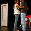 "Gloucester: Elizabeth Stephens and Adrian Davis rehearse a scene from ""Shut Up Alarm Clock,"" one of 7 plays written and directed by students at Gloucester High School. Photo by Kate Glass/Gloucester Daily Times Tuesday, November 10, 2009"