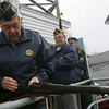 Rockport: Ernie Parsons loads his gun in preparation for the gun salute during the Rockport Veterans Day ceremony at the American Legion yesterday. Photo by Kate Glass/Gloucester Daily Times Wednesday, November 11, 2009