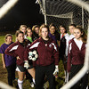 ALLEGRA BOVERMAN/Staff photo. Gloucester Daily Times. Gloucester: The Gloucester girls varsity soccer team defense, with goalie Laura Spilman, front center.