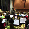 "Rockport students, grades fourth through twelfth, gather to play a few tunes together at the school's first ""Orchestra Summit"" on Wednesday afternoon in the Performing Arts Center at the High School. Jesse Poole/Gloucester Daily Times Nov. 2, 2011"