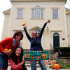 ALLEGRA BOVERMAN/Staff photo. Gloucester Daily Times. Gloucester: The Thanksgiving Harvest Market will be held at the Unitarian Universalist Church on Middle Street this Saturday. From left are: Cruz Ferreras of Gloucester, an advisory committee member, Nicole Bogin, manager of the Cape Ann Farmers Market, of Gloucester, and Maggie Mehaffey, of Mehaffey Farms of Rowley.