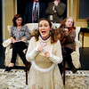 "ALLEGRA BOVERMAN/Staff photo. Gloucester Daily Times. Gloucester: The Cape Ann Theatre Collaborative presents A.R. Gurney's comedy ""Sylvia,"" at the Gloucester Stage Company. Clockwise from center front, is Julie Cleveland as Sylvia, Emily Sinagra as Kate, Cliff Blake as Greg, Tom Adams as Tom, and Jennifer-Lee Levitz as Phyllis. Missing from photo is Michael McNamara as Leslie."