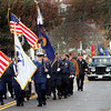 Gloucester's Veterans' Day parade, which began at Gloucester High School, marches down Centennial Avenue on Friday morning. Jesse Poole/Gloucester Daily Times Nov. 11, 2011