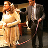 """ALLEGRA BOVERMAN/Staff photo. Gloucester Daily Times. Gloucester: The Cape Ann Theatre Collaborative presents A.R. Gurney's comedy """"Sylvia"""" at the Gloucester Stage Company. From left is Sylvia, played by Julie Cleveland, and Greg, played by Cliff Blake."""