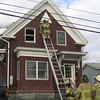 STEVEN FLETCHER/Gloucester Daily Times. Gloucester: At the scene of the apartment fire on Cleveland Street on Monday afternoon.