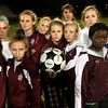 ALLEGRA BOVERMAN/Staff photo. Gloucester Daily Times. Gloucester: The Gloucester girls varsity soccer team midfield.