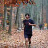 ALLEGRA BOVERMAN/Staff photo. Gloucester Daily Times. Gloucester: Noah Mondello, of the Gloucester High School cross-country team, preparing in Ravenswood Park for the All-State meet this Saturday.