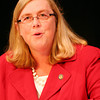 ALLEGRA BOVERMAN/Staff photo. Gloucester Daily Times. Gloucester: Gloucester Mayor and mayoral candidate Carolyn Kirk.