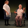 "Jim Vaiknoras/Gloucester Daily Times:Jessie Sorrells as Cordilia and Joseph Stiliano as Lear in the Cape Ann Shakespeare troupe' s  ""Shakespeare in Two Acts,"" at the Gloucester Stage Co"