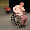 """Jim Vaiknoras/Gloucester Daily Times:David Cluett as The Fool and Joseph Stiliano as Lear in the Cape Ann Shakespeare troupe' s  """"Shakespeare in Two Acts,"""" at the Gloucester Stage Co"""