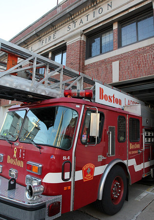 Allegra Boverman/Gloucester Daily Times. The Gloucester Fire Department is  borrowing a ladder truck from Boston Fire Department until their ladder truck returns from repair.