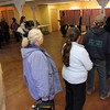 Allegra Boverman/Gloucester Daily Times. Voter turnout throughout Cape Ann was brisk all day on Tuesday. This is the scene midafternoon at Lanesville Community Center.