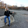 Allegra Boverman/Gloucester Daily Times. Nikki Bach, a general contractor who is helping with the construction of the Gloucester Dog Park at Stage Fort Park, talking about the park's progress and construction plans.