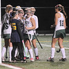 Jim Vaiknoras photo/Gloucester Times: Manchester Essex player celebrate a second half goal against Lynnfield at Machester Essex high Saturday night.