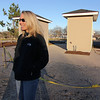 Allegra Boverman/Gloucester Daily Times. Nikki Bach, a general contractor who is helping with the construction of the Gloucester Dog Park at Stage Fort Park, talking about the park's constuction and plans.