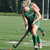 Jim Vaiknoras/Gloucester Times: Manchester Essex player Brittany Smith advances the ball during their 2-0 loss to Watertown in the  Division 2 North Sectional Championship Game Monday at North Andover high school.