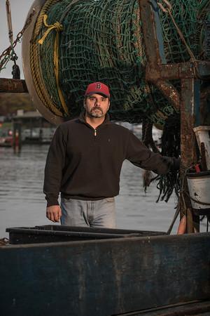 DESI SMITH/Staff photo.    Captain Al Cottone on board the Sabrina Marina at Felcia Oil Co. on Commercial Street.  Nov 7 2014