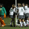 Members of the Manchester Essex field hockey team cheer following Tasha Lyne's goal in the second half of the MIAA Division 2 North Semi Finals against Bishop Fenwick. Lyne had three goals in the Hornets' 4-0 win. Photo by Kate Glass/Gloucester Daily Times