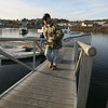 Manchester: Ron Crowe unloads the catch from the Captain Yak in Manchester Harbor yesterday afternoon. Photo by Kate Glass/Gloucester Daily Times