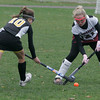 Rockport: Rockport's Nicolette Ambrose stops a shot during the MIAA Division 2 North Quarter Finals against Bishop Fenwick in Rockport on Saturday. The Vikings lost 3-2. Photo by Kate Glass/Gloucester Daily Times