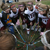 Rockport: Members of the Rockport High School field hockey team form a heart with their sticks before the start of the MIAA Division 2 North Quarter Finals against Bishop Fenwick in Rockport on Saturday. Photo by Kate Glass/Gloucester Daily Times