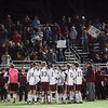 Several hundred Rockport fans cheer on the boys soccer team as they play Dover-Sherborn in the state semi-finals on Wednesday. Although they lost, 2-1 in overtime, it was the furthest Rockport had ever been in the tournament. Photo by Kate Glass/Gloucester Daily Times