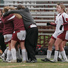 Gloucester: Members of the Gloucester girls soccer team embrace following their 6-1 loss to Wayland in the first round of the MIAA Division 2 North Championship on Saturday. Photo by Kate Glass/Gloucester Daily Times