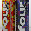 Four Loko, a beverage containing high amounts of alcohol and caffeine.