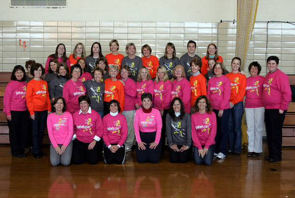 Manchester: The faculty at Manchester Memorial Elementary School wore t-shirts for Gabe's Run to show their support for Gabe's mother, Sharon Pacione, who works at the school. The run will be held today at Patton Park in Hamilton and proceeds benefit the Gabriel Pacione Memorial Scholarships. Photo by Mary Muckenhoupt/Gloucester Daily Times