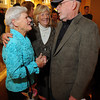 Avis Murray and Barbra Watson talk with Jim Munn at Cruiseport. Desi Smith /Gloucester Daily Times.