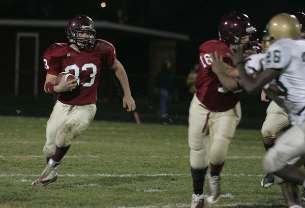 Gloucester: Gloucester running back Jordan Shairs runs the ball during the first half of the Gloucester vs. Lynn Classical at Newell Stadium Friday night. Mary Muckenhoupt/Gloucester Daily Times