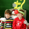 Rockport: Kai Curtin, 6, left, and his friend Roy Gebhardt IV, 6, pose for a picture with Santa during the Rockport PTO Holiday Fair at Rockport High School Saturday. Mary Muckenhoupt/Gloucester Daily Times