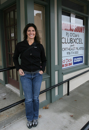Manchester: P.J. O'Clair will be opening Clubxcel, which will offer pilates, yoga and TRX suspension training, on School Street in Manchester. Photo by Kate Glass/Gloucester Daily Times