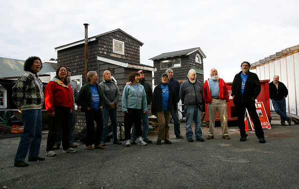 Gloucester: Three Sheets to the Wind, a group of local musicians and Adventure crew members who are preserving the history of maritime work songs, perform at Nights on the Neck at the Rocky Neck Art Colony Thursday night. Photo by Kate Glass/Gloucester Daily Times Thursday, Ocotber 1, 2009