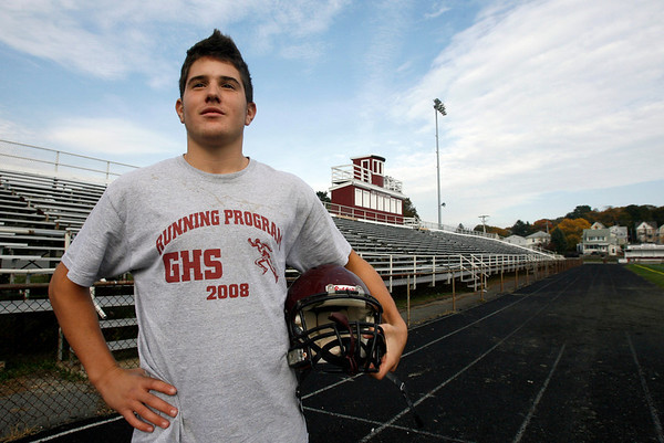 Alessandro D'Angelo has been a reliable fullback and defensive back for Gloucester this season and has been an unsung part of Gloucester's success. Photo by Kate Glass/Gloucester Daily Times Thursday, October 22, 2009