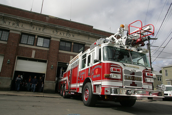 Gloucester: Gloucester's central fire station received a new ladder truck Saturday morning.  The fire engine will be in service in a week or two after all firefighters have trained on the new truck. Mary Muckenhoupt/Gloucester Daily Times