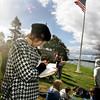 Gloucester: Athena Venetsanakos draws Gloucester harbor from the Destino house on Rocky Neck during with her eigth grade language arts class Thursday morning.  O'Maley Middle School eigth graders took a field trip to learn about perspective by studying Fitz Henry Lane so were taken to locations he painted from. Mary Muckenhoupt/Gloucester Daily Times