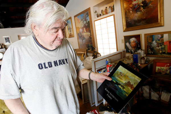 Gloucester: Robert Stevenson of Gloucester painted the serpent at Cressy's Beach in 1955 when he was 19 years old. Photo by Kate Glass/Gloucester Daily Times Tuesday, October 20, 2009