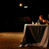 Gloucester: Ward 2 council seat hopefuls Ann Frontiero Mulcahey and Roger Hussey participate in a debate hosted by the Gloucester Daily Times at Gloucester Stage last night. Photo by Kate Glass/Gloucester Daily Times Monday, October 26, 2009