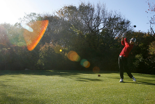 Gloucester: Gloucester High School golfer Tyler Conigliari will be playing in the Northeastern Conference Open today. Photo by Kate Glass/Gloucester Daily Times Monday, October 19, 2009
