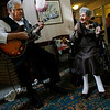 Gloucester: Edna New dances to the tunes of her favorite band, Manuel's Black & White Orchestra, during her 110th birthday party at Seacoast Nursing and Rehab Center yesterday. Photo by Kate Glass/Gloucester Daily Times Tuesday, October 13, 2009