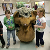 "Rockport: From left, fifth graders Jack Rukeyser, Thora Taylor, Anna Cloherty and Lucy Williams walk with Emma Rukeyser who was dressed like the hedgehog from the book ""Hedgie Blasts Off"" a book by Jan Brett at the annual book fair at Rockport Elementary School Wednesday afternoon. Mary Muckenhoupt/Gloucester Daily Times"