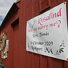 Rockport:  An Irish man sought permission from the Board of Selectman to have a sign put on Motif No. 1 to ask his Welsh girlfriend to marry him while they two were visiting Rockport Saturday. Mary Muckenhoupt/Gloucester Daily Times