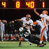 Manchester:  Manchester's # 65 just misses blocking the punt against Ipswich Tigers.Desi Smith/Gloucester Daily Times. October 15,2010.