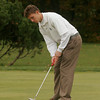 Beverly: Manchester Essex's Corey Barstis putts into the 18th hole at Beverly Golf and Tennis during the Division III State Tournament yesterday. Photo by Kate Glass/Gloucester Daily Times