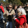 Essex: Anne Jackman, left, and her mother-in-law Paulene Jackman try the clam chowder from Shea's Riverside Restaurant, one of the eight participants competeing for the best chowder at the Chowder Fest in Essex Saturday afternoon.  Mary Muckenhoupt/Gloucester Daily Times
