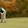 Beverly: Manchester Essex's Alex Porter putts on the 12th green at Beverly Golf and Tennis during the Division III State Tournament yesterday. Photo by Kate Glass/Gloucester Daily Times