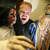 Gloucester: Scott Smiledge of Vampfangs models their signature fangs at their Gloucester office. The company is the biggest supplier of fake fangs in the world. Photo by Kate Glass/Gloucester Daily Times