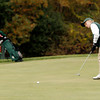 Beverly: Manchester Essex's Ben Bichet makes a long putt on the 18th hole at Beverly Golf and Tennis during the Division III State Tournament yesterday. Photo by Kate Glass/Gloucester Daily Times