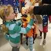 Rockport: Molly Ambrose holds up Fairy Juliette, a scarecrow she and the first grade Daisies of Girl Scout Troop 63156 made for Rockport's Harvest Festival, which is being held this weekend. Photo by Kate Glass/Gloucester Daily Times